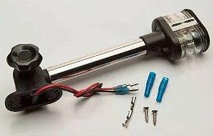 Peças e acessórios Lanchas Focker - Luz de ancoragem Tricolor Retangular à 06 LEDs 21,5cm (Preto) 1 un.