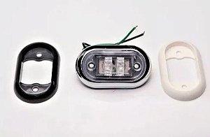 Peças e acessórios Lancha Focker - Luz de cortesia selada LED Moldura branco, preto ou cromado (Amarelo, azul, branco, verde e vermelho) 1 un.