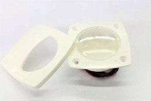 Peças e acessórios Lanchas Focker - Luz de cortesia LEDs Alta intesidade 12V Corpo em ABS Branco ou preta (Branco, branco quente ou azul) 1 un.