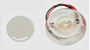 Peças e acessórios Lanchas Focker - Luz de cortesia acrílica LED Corpo redondo 12V (Branco, azul, vermelho e amarelo) 1 un.