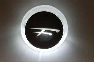 """Peças e acessórios Lanchas Focker - Luz de cortesia acrílica LED Corpo redondo 12V Etiqueta com """"F"""" da Focker (Branco, azul, vermelho e amarelo) 1 un."""