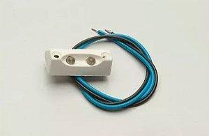 Peças e acessórios Lancha Focker - Luz de degrau LED Moldura branco ou grafite (Branco, azul, vermelho, verde, amarelo) 1 un.