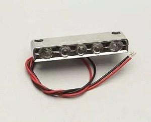 Peças e acessórios Lancha Focker - Luz de degrau selada 05 LEDS 12V Corpo em ABS cromado (Branco, azul, vermelho, verde e amarelo) 1 un.