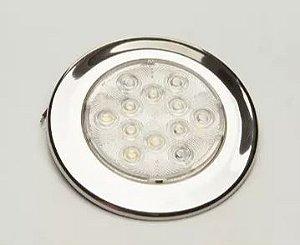 Peças e acessórios Lanchas Focker - Luminária de Cabine Bicolor LED 12V Corpo branco ou Aço Inox 304 (Branco e vermelho no centro) 1 un.