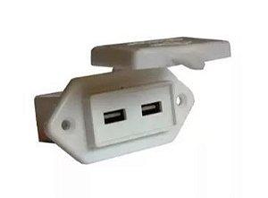 Peças e Acessórios Lancha Focker - Carregador USB para Aplicações Náuticas 12V á 24V (Branco, preto)