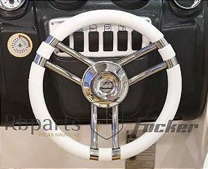 Peças e Acessórios Lancha Focker - Volante Italiano Branco Fibrafort