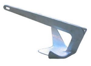 Peças e Acessórios Lancha Focker - Âncora Galvanizada a Fogo - Modelo: Bruce - Tam: 5kg