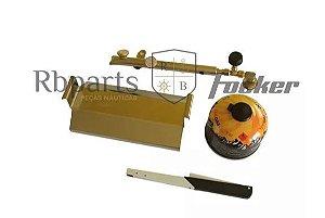 Peças e Acessórios Lancha Focker - Kit Gás para Churrasqueira Redonda