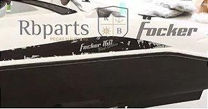 Peças e acessórios Lanchas Focker - Perfil Verdugo de Alumínio com Borracha (12 Metros)