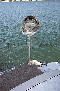 Peças e Acessórios Lancha Focker - Churrasqueira com Pedestal para Plataforma de Popa