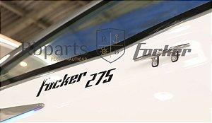 Peças e acessórios Lancha Focker - Para-brisa Vidro Lateral Piloto Focker 275