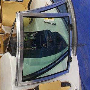 Peças e acessórios Lancha Focker - Para-brisa Vidro Frontal Copiloto Focker 210