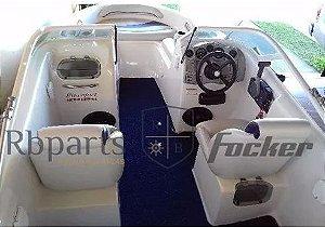 Peças Para Barcos E Lanchas -estofado Focker 180 (courvin) Capa Dos Bancos Completo