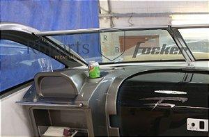 Peças e acessórios Lancha Focker - Para-brisa Vidro Com Esquadria de Alumínio Frontal Copiloto Focker 275