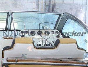 Peças e acessórios Lancha Focker - Para-brisa Vidro Com Esquadria de Alumínio Frontal Piloto Focker 320/330