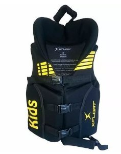 Peças e Acessórios Lancha Focker - Colete de Neoprene Infantil Amarelo P M G