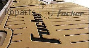 Peças e Acessórios Lancha Focker - Tapete Eva Plataforma de Popa Focker 215i/230