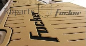 Peças e Acessórios Lancha Focker - Tapete Eva Plataforma de Popa Focker 280/305