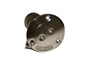 Peças e Acessórios Lancha Focker - Bocal de Abastecimento em Inox c/ Trava de Segurança e Chaveta - Diesel