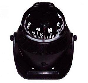 Peças e Acessórios Lancha Focker - Bússola c/ Base Náutica - C/ Iluminação - Tam: Grande - Cor: Preta