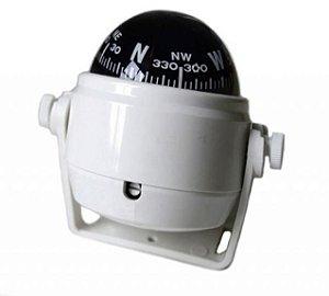 Peças e Acessórios Lancha Focker - Bússola c/ Base Náutica - C/ Iluminação - Tam: Pequena - Cor: Branca