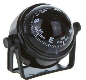 Peças e acessórios Lanchas Focker - Bússola c/ Base Náutica - S/ Iluminação - Tam: Pequena - Cor: Preta
