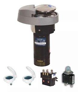Peças e acessórios para barcos - Guincho Eletrico VA600 Corrente DIN766 6mm -