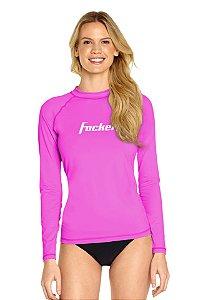 Camiseta Adulto com Proteção Uv Focker Rosa