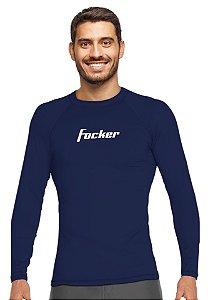 Camiseta Adulto com Proteção Uv Focker Azul