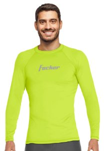 Camiseta Adulto com Proteção Uv Focker Verde Neon