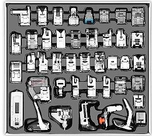 Kit de 42 Peças de Sapata e Calcadores para Máquina Doméstica