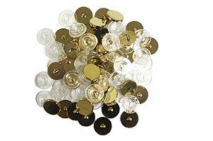 Botão de Pressão Ritas Dourado Cromado