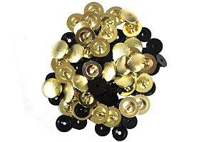 Botão de Pressão Ritas Dourado Tamanho 15