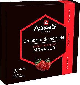 Bombom de Sorvete sabor Trufas de Morango