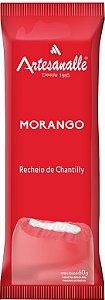 Picolé Morango com recheio de Chantilly