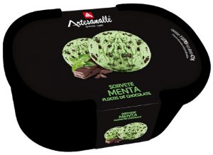 Sorvete Menta - Flocos de Chocolate