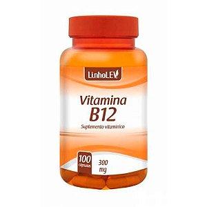 """Vitamina """"B12"""" 300mg 100 Cápsulas - LinhoLEV"""