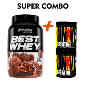 BEST WHEY ATLHETICA 900g + CREATINE POWDER UNIVERSAL 400g - COMBO
