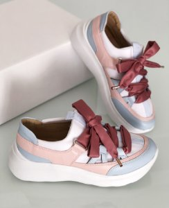 Tênis Candy azul e rosa