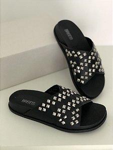 Sandália Slide Spike Preta