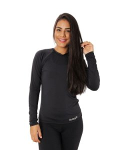 Camisa UV Ocean Feminina Preta