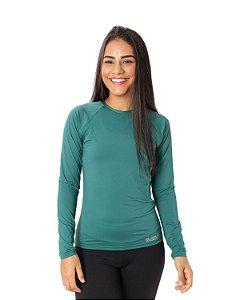 Camisa UV Ocean Feminina Verde Musgo