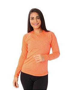 Camisa UV Ocean Feminina Colorfull Laranja