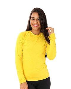 Camisa UV Ocean Feminina Colorfull Amarela
