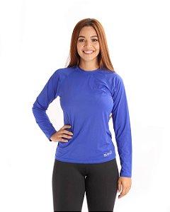Camisa Life Proteção Uv Feminina Azul Royal
