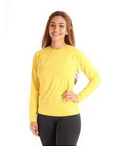 Camisa Life Proteção Uv Feminina Amarela