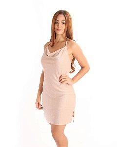 Vestido Life Glow Glam Rosê