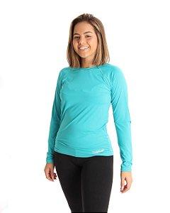 Camisa Life Proteção UV Feminina Verde Surf