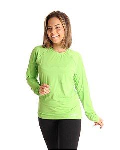 Camisa Life Proteção UV Feminina Verde Bandeira
