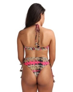 Hot Pants Life Asa Delta Trançada Versaty Animal Print Rosa